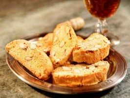 """Biscotti Di Prato""  Almond and orange biscotti...from Extra Virgin on the Cooking Channel. Traditional Tuscan cookies"