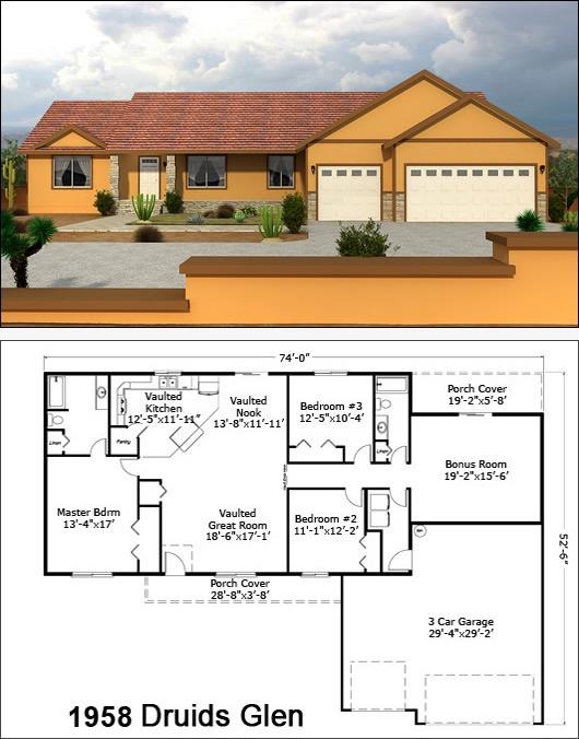 28 best single story floor plans images on pinterest for Custom home plans arizona