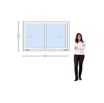 Mostrar detalles para Ventana PVC DVH 160 x 100 - doble vidrio - hojas corredizas