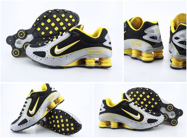 sneakers for cheap a8617 bc580 ... Mens Nike Shox Monster White Black Yellow Shoes,bright beautiful,  visual effect is strong ...