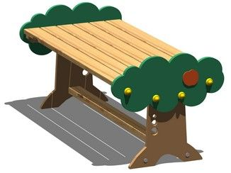 Pine Table for public areas ARANCIA | Table - Legnolandia