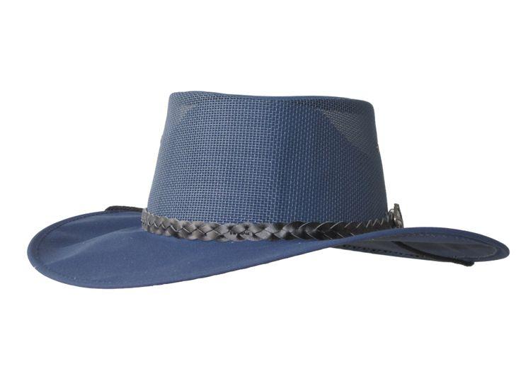 Jumbuck Kooler (Mesh& Canvas hat Wide Brim) - True Blue by Jacaru Australia