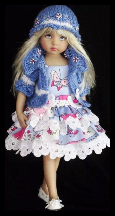 Handmade dress set made for Effner little darling dolls