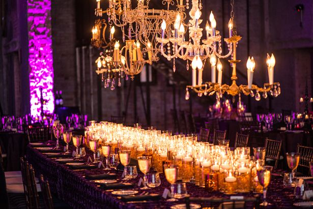 Sophisticated Purple Wedding Decor  ---  dramatic-wedding-decor