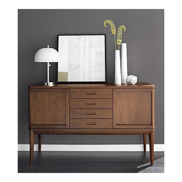 Mid-Century modern inspiration from Crate&Barrel. Oslo Sideboard.
