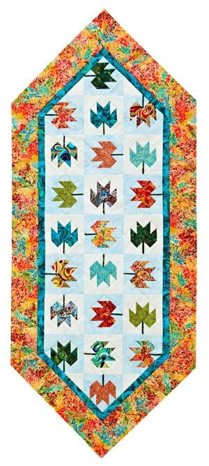 FREE PATTERN ~ A New Leaf Table Runner ~ I would use a different color for the background, but it's a beautiful pattern.