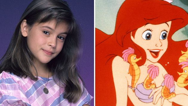 A young Alyssa Milano served as inspiration for 'The Little Mermaid'