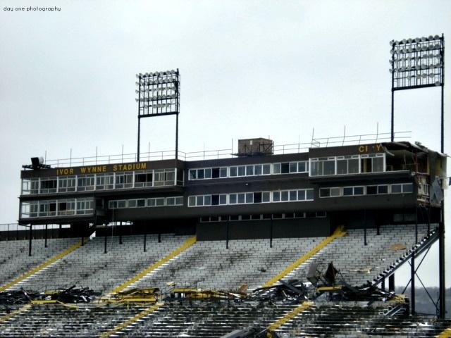 As they tore down #IvorWynneStadium. Home of #CFL #Hamilton #TigerCats #Football #FredaMans