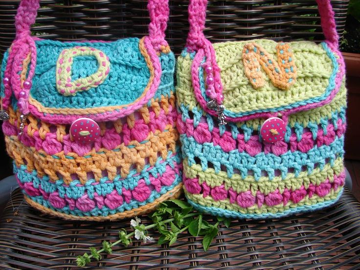 Crochet girl bags / Horgolt táska
