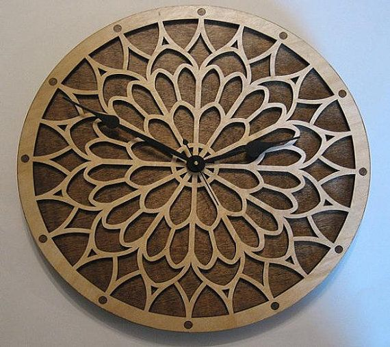 Notre Dame wooden clock kit by WoodenGearClocks on Etsy, $44.00