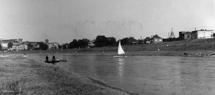 Rzeka Wisła (Kraków), Kraków - 1953 rok, stare zdjęcia