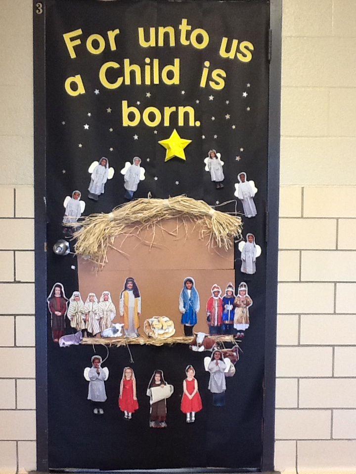 Christmas Classroom Door Religious Classroom Doors
