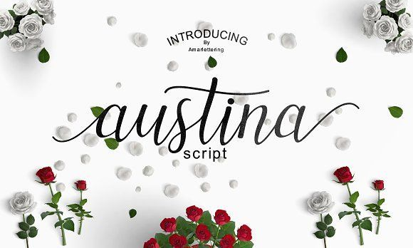 Austina Script - 50 % OFF by Amarlettering on @creativemarket