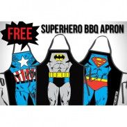 Superman Fashion Apron GB3P Funny Joke Gift for Kitchen Cooking