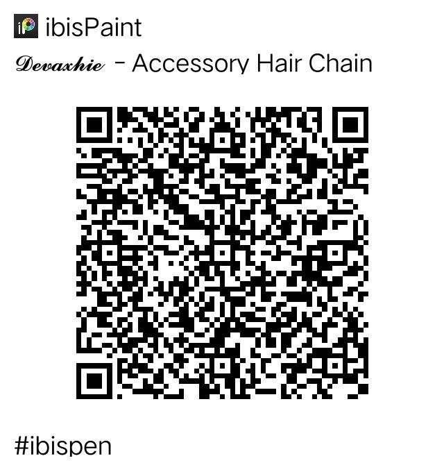 Devaxhie Accessory Hair Chain Qr Code Ibispaintx Paint Code Ibis Coding