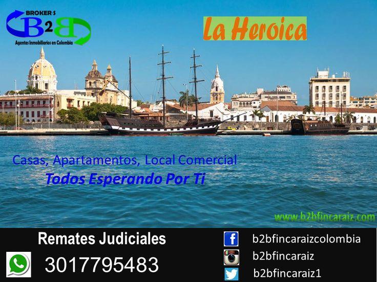 Sólo Faltas TU....Ven y Escoge. Somos Los Profesionales Indicados Para Asesorarte En La Compra De Vivienda, Apartamento, Local Comercial o Bodega. www.b2bfincaraiz.com Cel: 3017795483. #FincaRaizCartagena