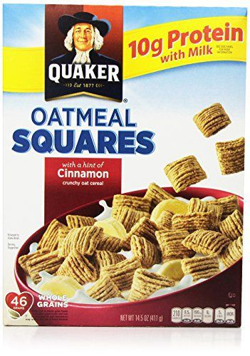 Quaker Cereal Oatmeal Squares Cereal, Cinnamon, 14.5 Ounce - http://sleepychef.com/quaker-cereal-oatmeal-squares-cereal-cinnamon-14-5-ounce/