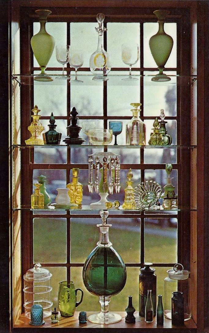 17 best images about colored glass on pinterest antique for Glass bottle display ideas
