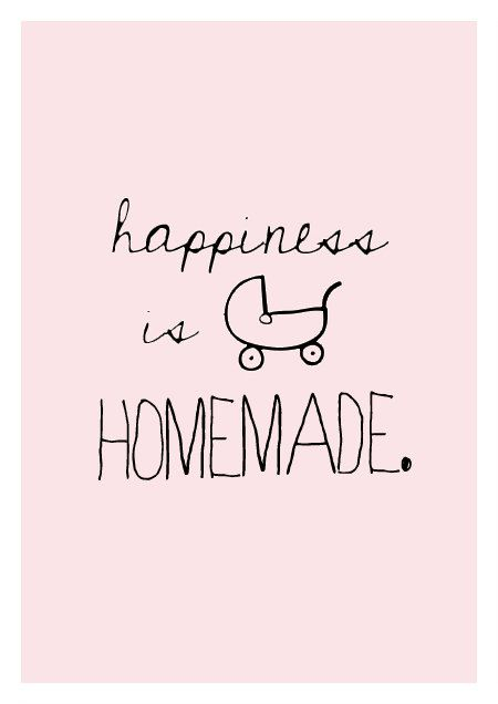 Happiness is homemade quote poster print Typography door sinansaydik