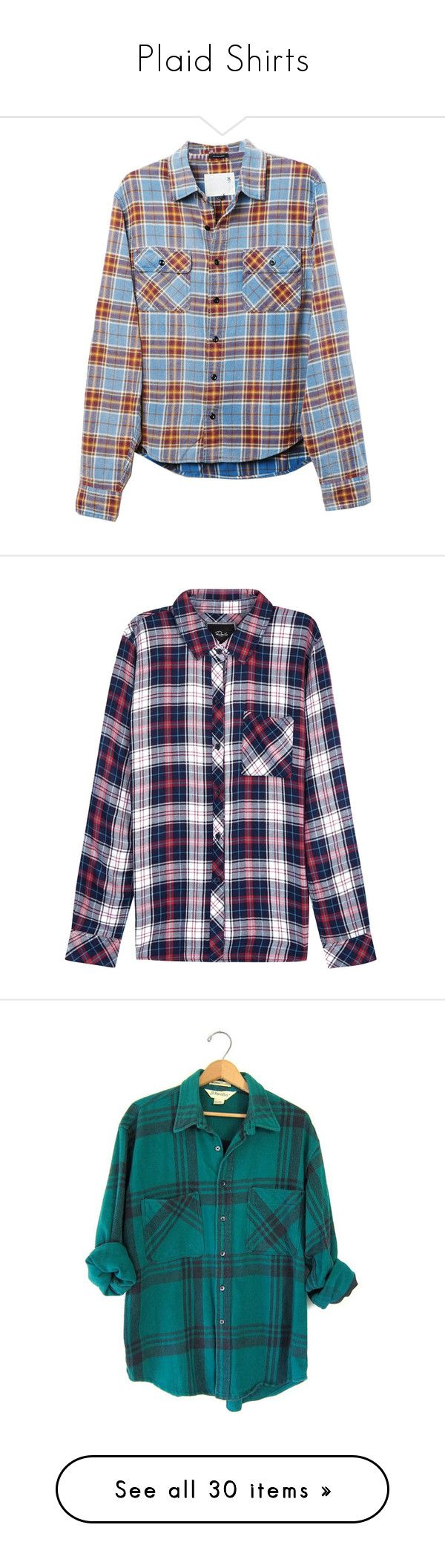 """Plaid Shirts"" by stargirl234 ❤ liked on Polyvore featuring tops, tartan plaid shirt, plaid shirts, grunge plaid shirt, blue shirt, blue top, shirts, button down, flannel and plaid"