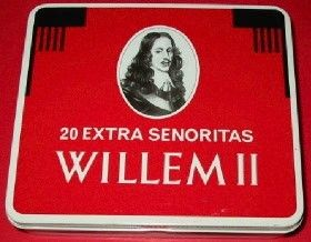 Blikje van Willem II Senoritas sigaren