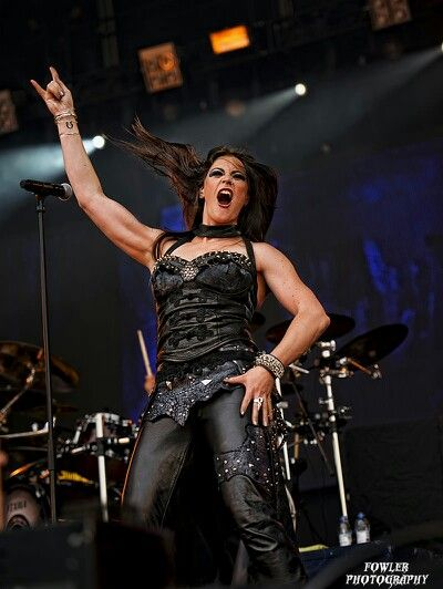 The Super Tall And Super Talented Metal Vocalist Floor Jansen. Lead Singer  Of Metal Bands