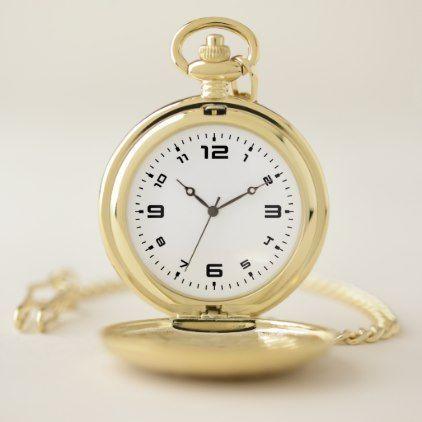 Modern Pocket Watch - accessories accessory gift idea stylish unique custom