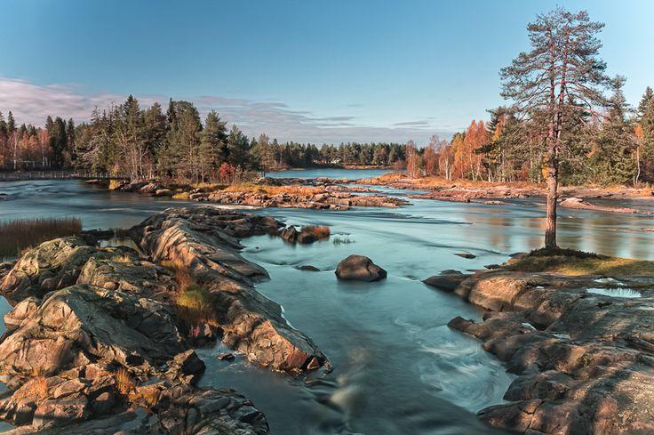 Koiteli waterfall in Kiiminki Finland
