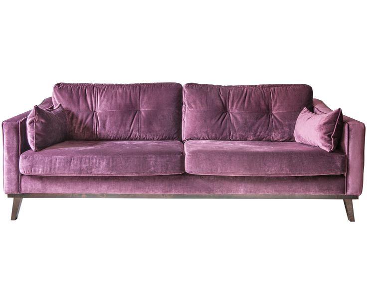 Ber ideen zu lila wohnzimmer auf pinterest lila for Schlafsofa samt
