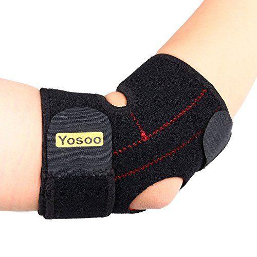 Yosoo Adjustable Neoprene Tennis Golfers Elbow Brace Wrap Arm Support Strap Band * Visit the image link more details.