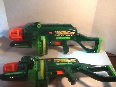 Two Buzz Bee Toys Air Blasters Automatic Tommy Gun 20 Dart Work Great