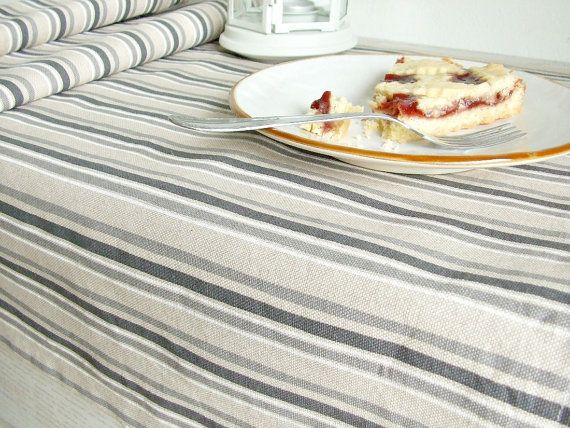 Not quilted. Grey striped table runner modern table runner by acountrystory