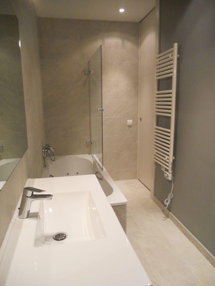 Baños Modernos Beige:Ideas de #Baño, estilo #Contemporaneo color #Beige, #Marron, #Blanco
