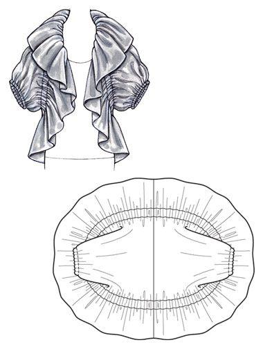 Ruffle Bolero Jacket