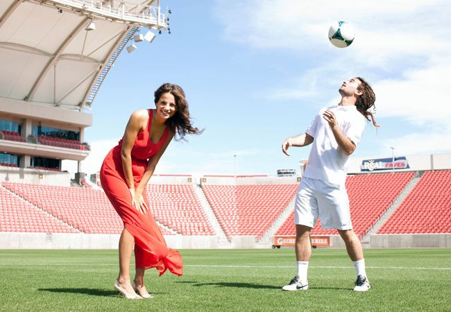 USA World Cup Soccer Player Kyle Beckerman's Engagement Session | Matt Clayton Photography | blog.theknot.com