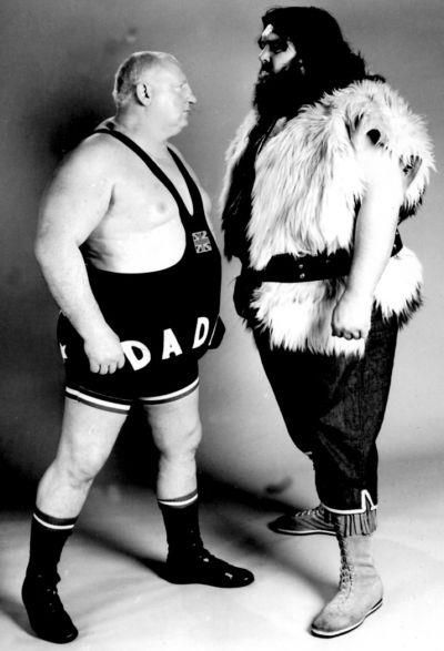 Big Daddy and Giant Haystacks. My Granddad loved the wrestling, so when we visited we had no choice in watching it too!