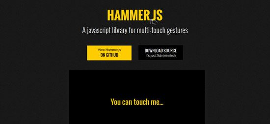 Hammer.js and many other touch jquery plugins