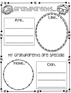 1st Grade Hip Hip Hooray!: Grandparents' Day is on the way!