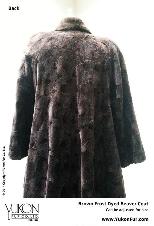 Brown Frost Beaver Coat  $5,180.00  Size: 12 Lining: B  Can be adjusted for size  http://www.yukonfur.com/wp/product/517-brown-frost-beaver-coat  For details call +01.416.598.3501 or email Chris, chris@yukonfur.com