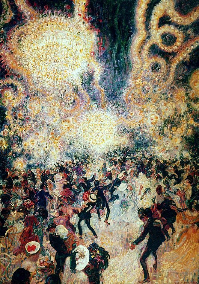 Dutch painter Jan Sluijters - Bal Tabarin (1907). Painting of the famous nightclub Bal Tabarin in Paris during de beginning of the 19th century.