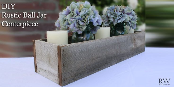 These rustic centerpieces are not only great looking on tables for weddings, parties and as home decor, but they're incredibly simple to make.…