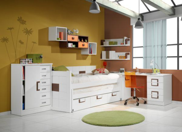 Dormitorios habitaciones juveniles e infantiles lacadas - Mueble infantil madrid ...