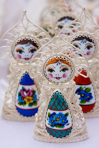 beauty from the town Rostov Great ,russian enamel