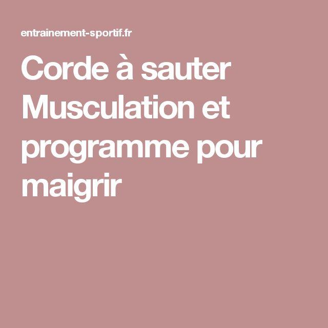 Corde à sauter Musculation et programme pour maigrir