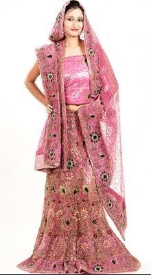 Fancy Deep Pink Lehenga Choli
