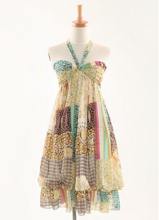 wholesale bohemian dress k8108 Yellow [k8108] $12.00 : Yuki Wholesale Clothing - Love!