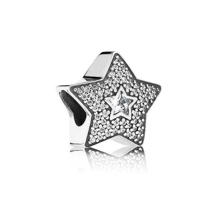Wish upon a star and make all your dreams come true this winter with this sparkling charm from PANDORAs Starry Night collection. Beautifully handcrafted from sterling silver with two bezel-set star shaped cubic zirconia surrounded by an array of micro pave-set cubic zirconia to add a twinkling touch to your look. http://www.argento.co.uk/en/Pandora-Pave-Wishing-Star-Charm/m-48730.aspx