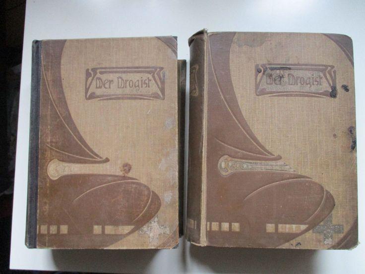 """2 Antiquarische Bücher """"Der Drogist"""" Band 1 und 2 von 1905 • EUR 99,00 - PicClick DE"""