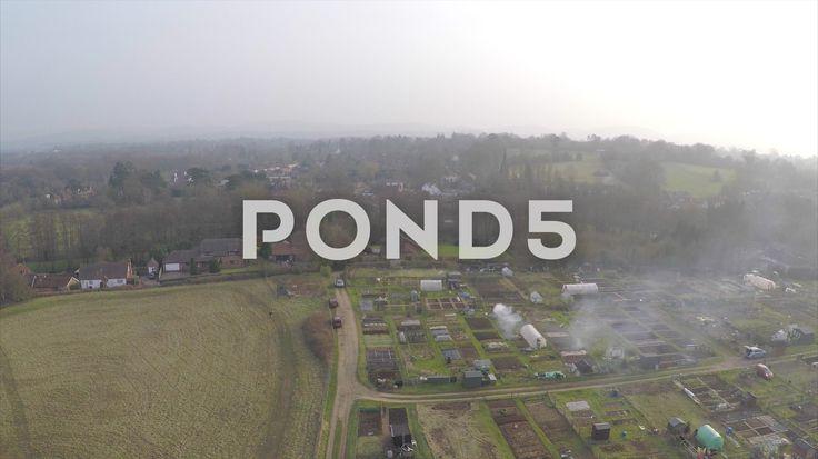 2.7K Aerial Shot Village Countryside Farmers Plot Fire Smoke Drone - Stock Footage | by RyanJonesFilms