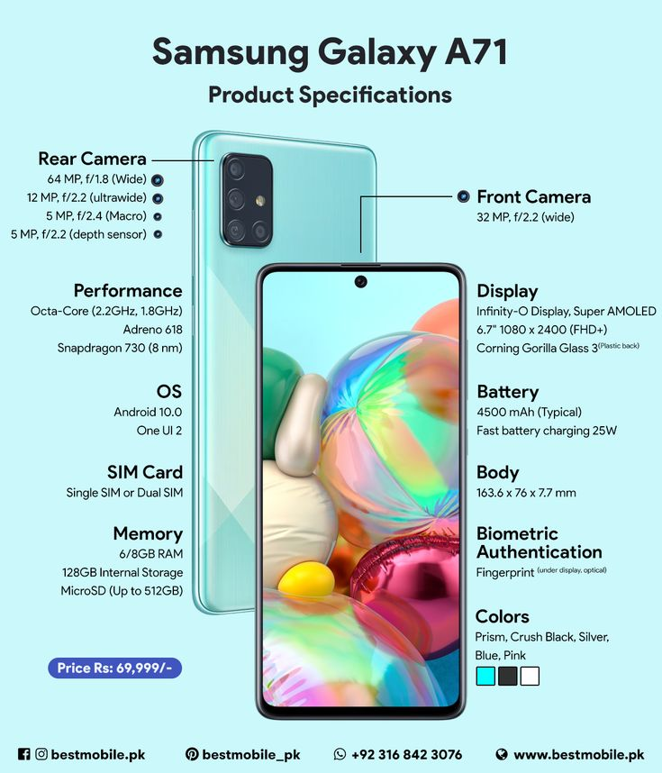Samsung Galaxy A71 Android Pie smartphone in Pakistan